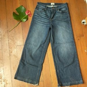 J. Crew Rayner Wide Leg high waist jean